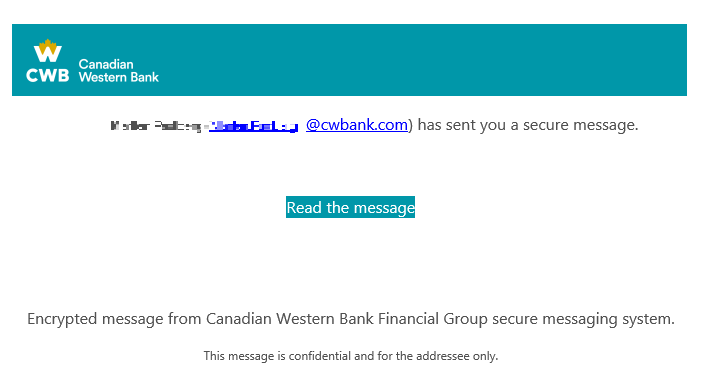 CWB Encrypted email one time sample